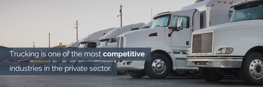 Trucking Industry is Competitive