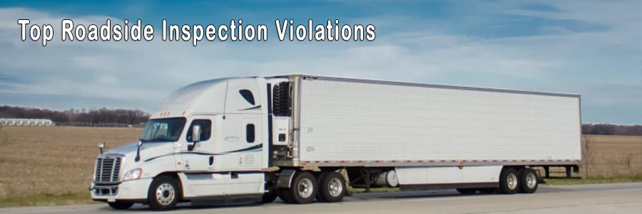 top roadside inspection violations title image